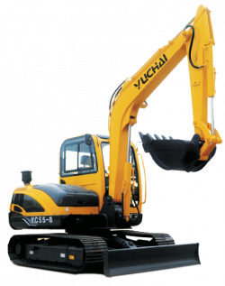 The YC55-8, hydraulic excavator